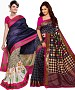 COMBO ONE MULTY PRINTED SAREE AND MULTY PRINTED SAREE @ 31% OFF Rs 926.00 Only FREE Shipping + Extra Discount - BHAGALPURI SILK, Buy BHAGALPURI SILK Online, Designer Saree, Combo Deal, Buy Combo Deal,  online Sabse Sasta in India - Sarees for Women - 9609/20160520