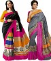 COMBO ONE MULTY PRINTED SAREE AND MULTY PRINTED SAREE @ 31% OFF Rs 926.00 Only FREE Shipping + Extra Discount - BHAGALPURI SILK, Buy BHAGALPURI SILK Online, Designer Saree, Combo Deal, Buy Combo Deal,  online Sabse Sasta in India - Sarees for Women - 9610/20160520