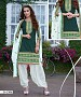 EMBROIDERED GREEN AND WHITE PATIYALA STYLE SALWAR KAMEEZ @ 31% OFF Rs 1482.00 Only FREE Shipping + Extra Discount - Cotton Suit, Buy Cotton Suit Online, Patiala Suit, Semi Stiched Suit, Buy Semi Stiched Suit,  online Sabse Sasta in India - Salwar Suit for Women - 9351/20160520