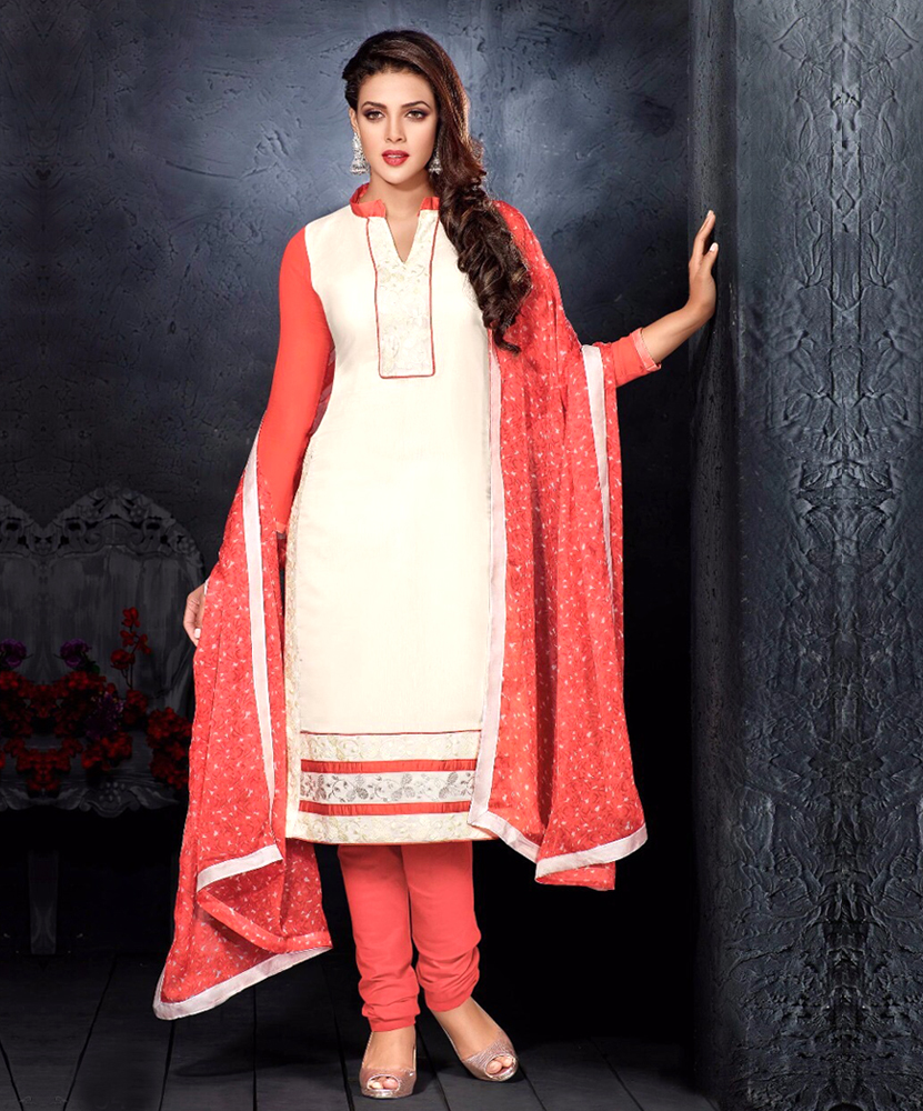 aec49bbad9 Chanderi Cotton Embroidered Salwar Suit @ 60% OFF Rs 744.00 Only ...