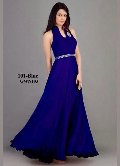 c1964faa3f Ladli Designer Partywear Blue Gown- Gown, Buy Gown Online, Designer ...