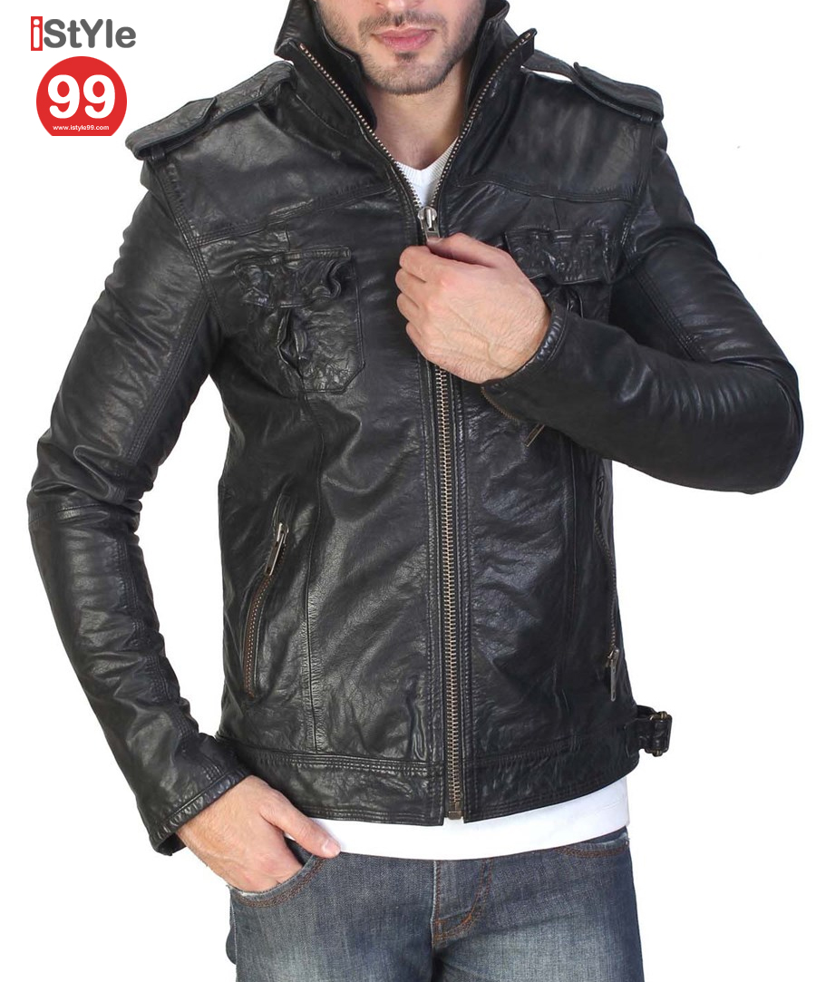Leather jacket india - Black Leather Jacket Rs6896 00 Sold Out