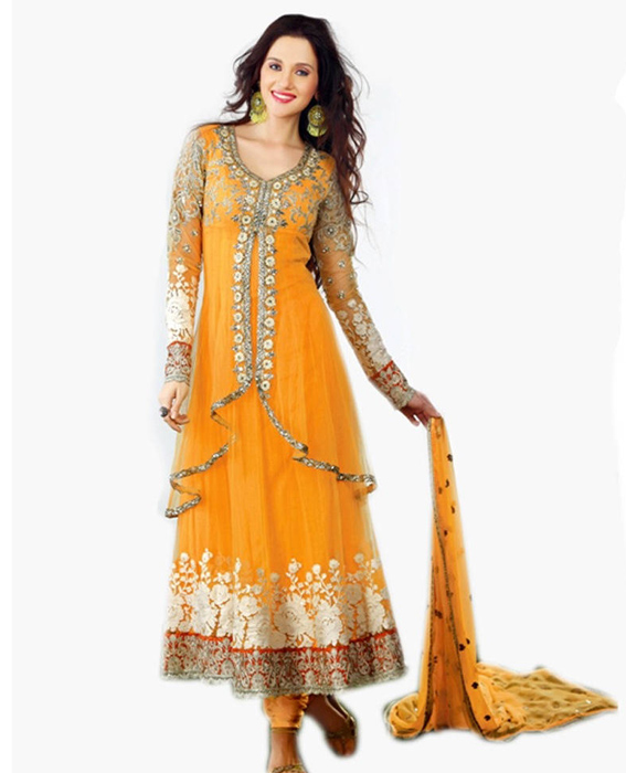 a816adee09 Baby yellow Gorgeous Anarkali Salwar Suits @ 17% OFF Rs 2286.00 Only ...