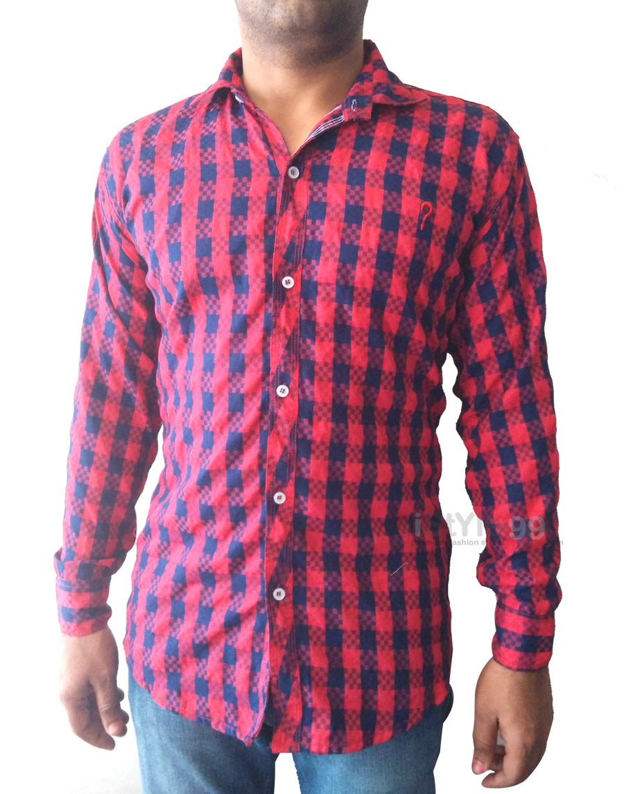 Men slim fit casual shirt 65 off rs only free for Slim fit mens shirts casual