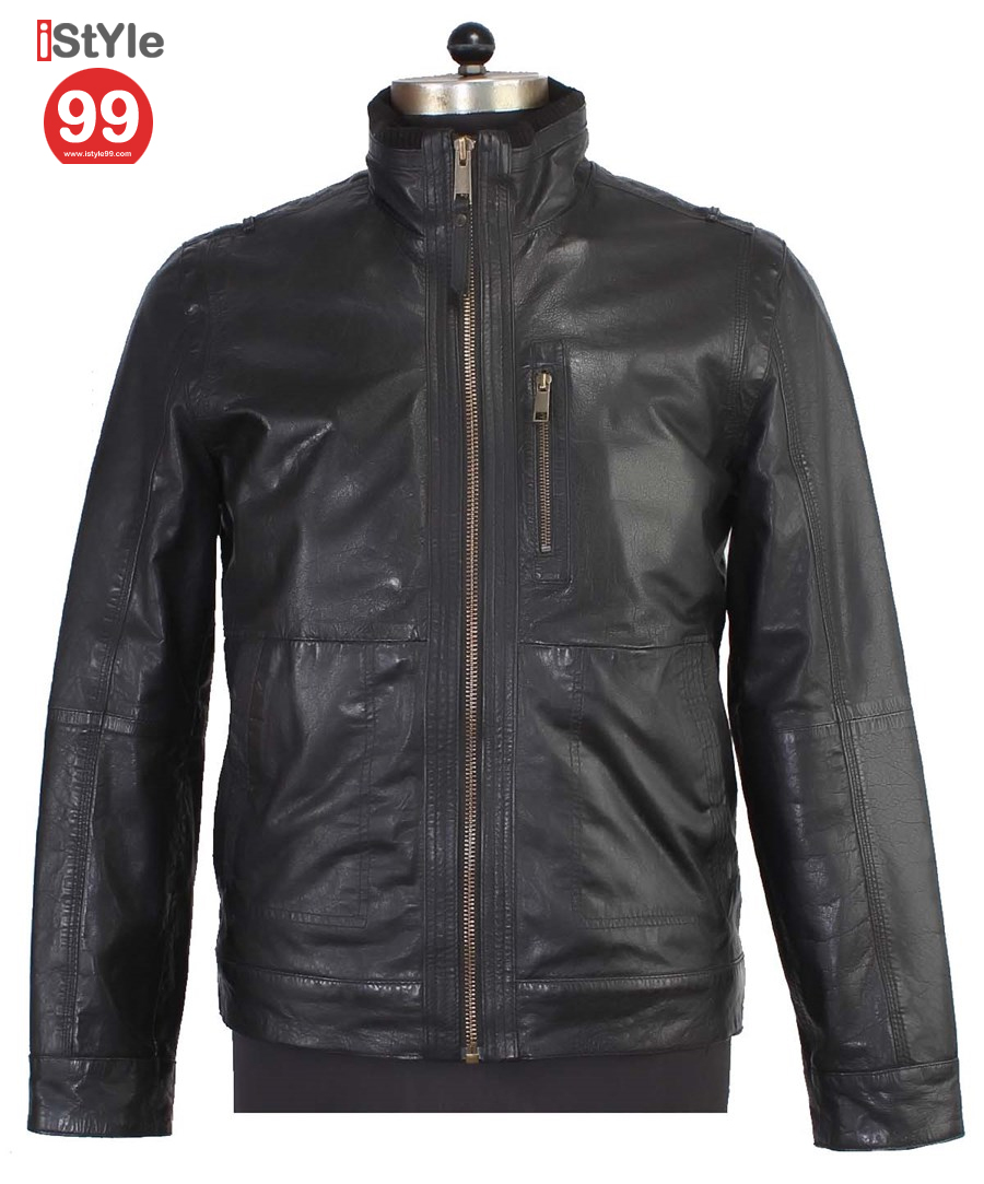 Black Gents Leather Jacket 63 Off Rs 6488 00 Only Free