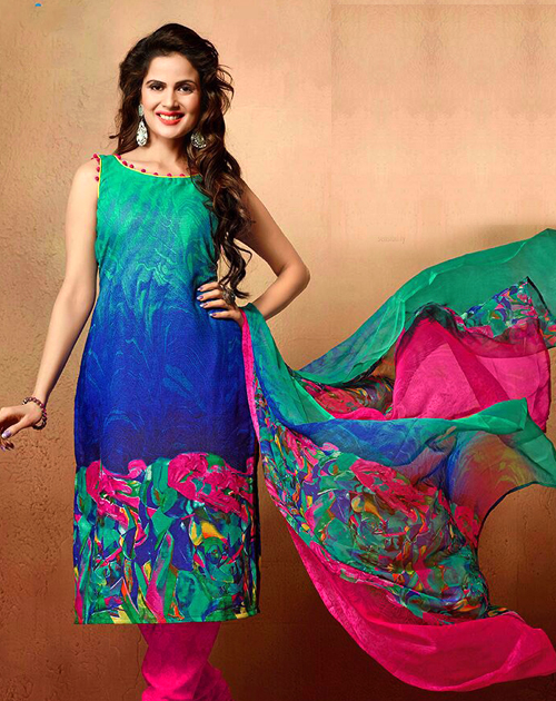 5db667e41a Designer Mix Cotton Salwar Suit @ 81% OFF Rs 349.00 Only FREE ...