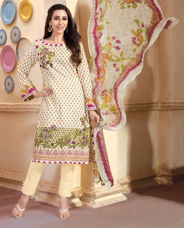 55a32c558d Embroidered Karachi Style Semi Lawn Suit @ 34% OFF Rs 2059.00 Only ...