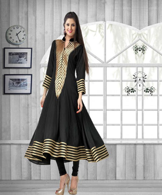 cb2bbe844bc New Collection Of Latest Black Kurti @ 52% OFF Rs 494.00 Only FREE ...