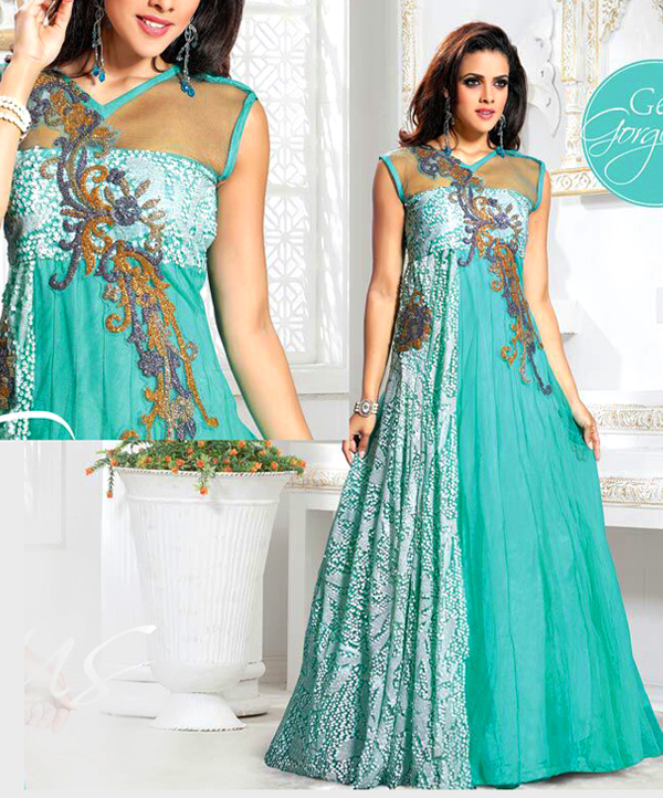 359a649808 Indo Western Designer Gown @ 61% OFF Rs 2215.00 Only FREE Shipping + Extra  Discount - online Sabse Sasta in India - Salwar Suit for Women - ...