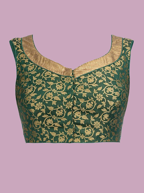 Green Designer Blouse Material 52 Off Rs 396 00 Only Free Shipping Extra Discount Brocade Blouse Buy Brocade Blouse Online Blouse Material