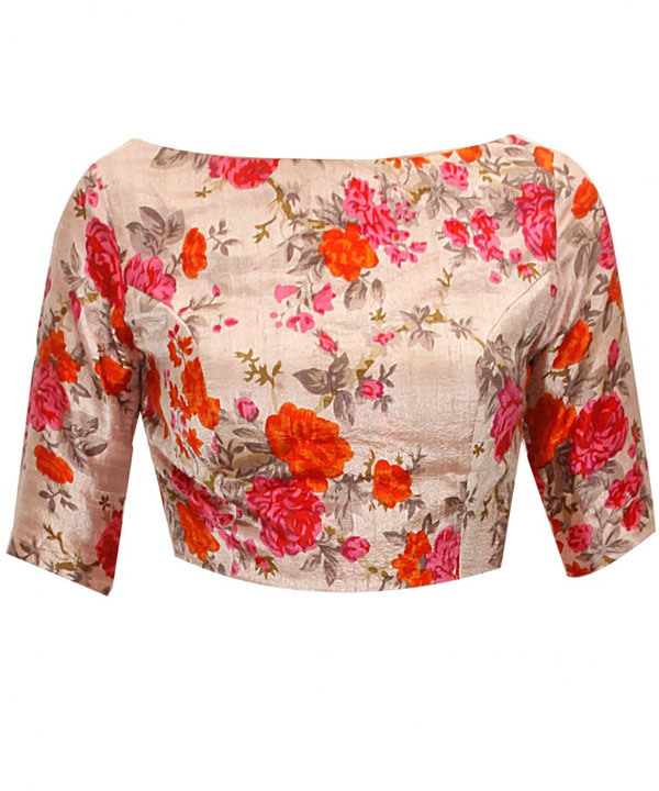 New Latest Multi Colour Floral Printed Designer Blouse   Rs370.00. Sold Out 8756bc681d