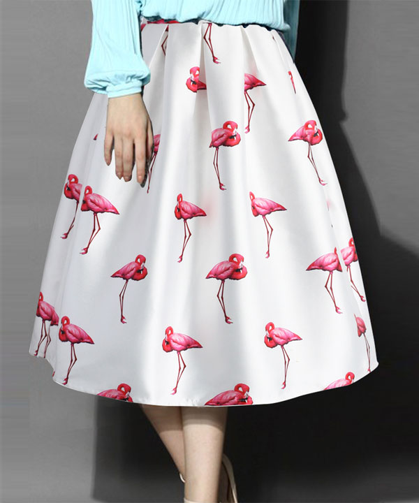 db6dcf901e Sold Out. White Colour Printed Womens Skirt @ 52% OFF Rs 988.00 Only FREE  ...