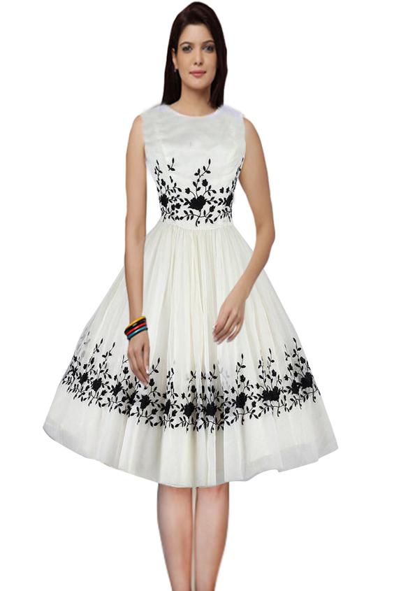 e68aea21700e Designer Latest White & Black Special Semi Stitched Western Wear @  Rs557.00. Sold Out