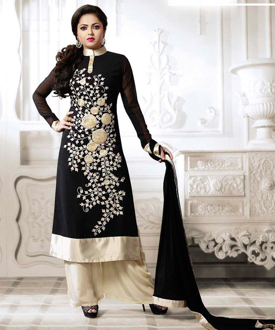 8083d80aad9 THANKAR LATEST BLACK DESIGNER LONG SLEEVE ANARKALI SUIT   31% OFF Rs ...