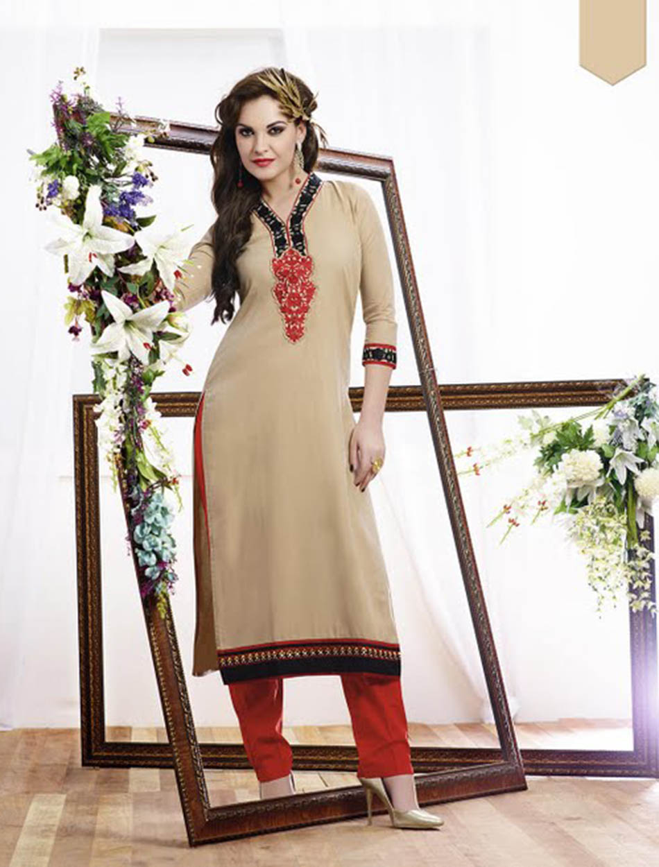 556eaa763 Sold Out. THANKAR CREAM DESIGNER STITCHED KURTI   31% OFF Rs 988.00 Only  FREE ...