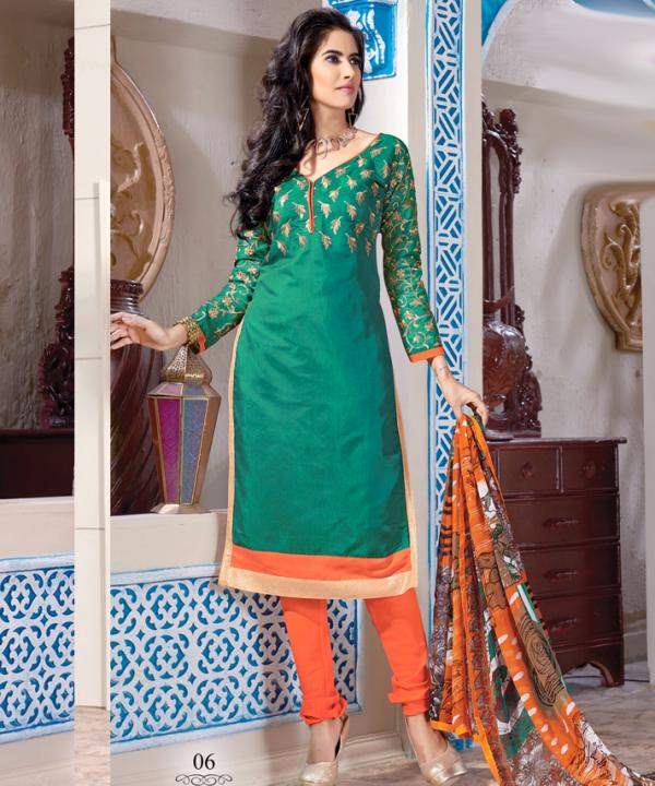 7ab51f80c8 Chanderi Cotton Salwar Kameez with Dupatta @ 66% OFF Rs 629.00 Only ...