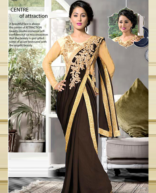 Saree Style Party Gown @ 51% OFF Rs 2040.00 Only FREE Shipping + ...