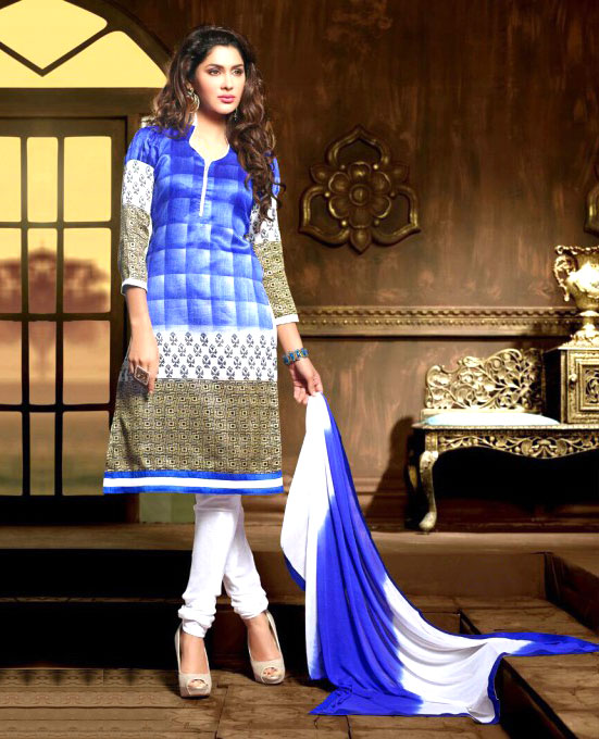 Embroidery Bhagalpuri Silk Salwar Suit with Dupatta @ 79% OFF Rs ...