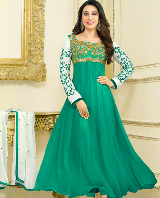 Embroidery Designer Anarkali Suit @ 75% OFF Rs 1081.00 Only FREE ...