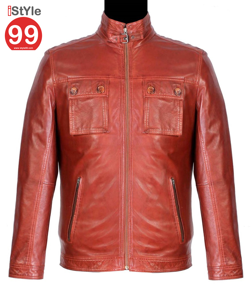 Leather jacket india - Men Leather Jacket Tan Rs6488 00 Sold Out