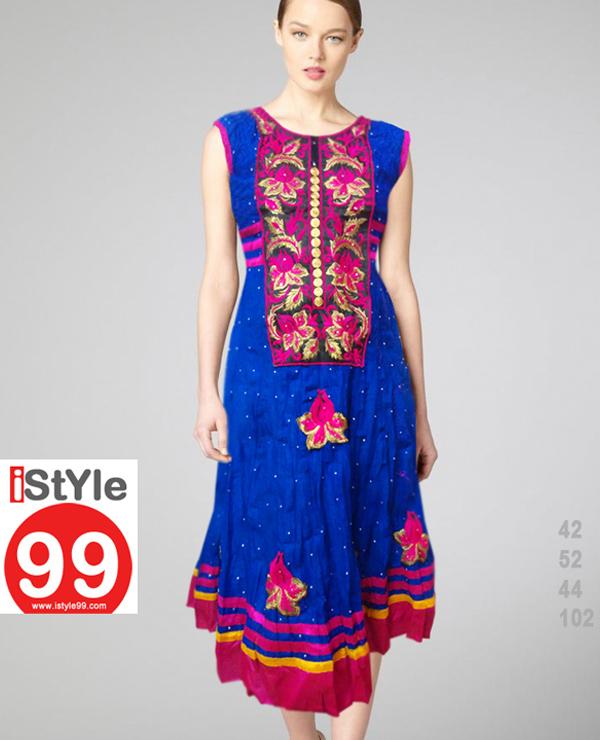 Embroidery Anarkali Cambric Cotton Kurti Rs72000