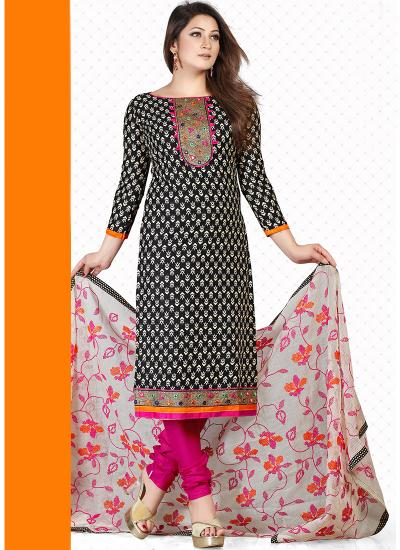 vandv New Black   Pink Pure Cotton Dress Material   Rs1359.00. Sold Out e670f8c2e