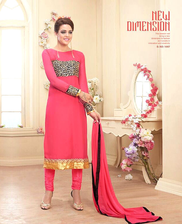 021c2f2d6 Heavy Georgette Party Wear Dress   73% OFF Rs 2059.00 Only FREE ...